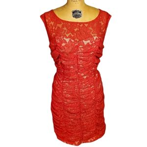 Torrid Red Lace Bodycon Sleeveless Dress